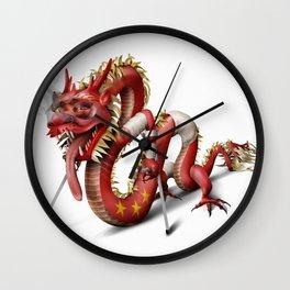 Knackered Dragon Wall Clock