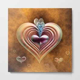 My Foggy Heart Metal Print