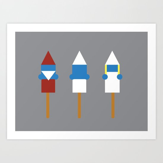Popsicle Smurfs Art Print