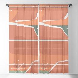 Vintage Retro 04 Sheer Curtain