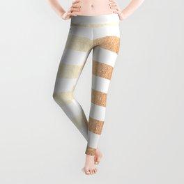 Simply Striped Deep Bronze Amber Leggings