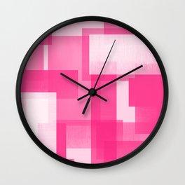 Modern Abstract No. 23   Fucshia Wall Clock