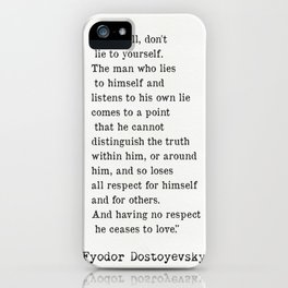 Fyodor Dostoyevsky quote iPhone Case