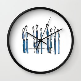 Blue People Wall Clock