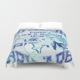 SAILOR BLUE BLACK Duvet Cover