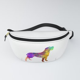 Bohemian Wirehaired Pointing Griffon in watercolor Fanny Pack