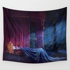 Sleep Until Awakened by True Love's Kiss Wall Tapestry