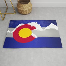 Colorado Winter Flag Rug