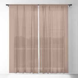 Sherwin Williams Trending Colors of 2019 Wheat Penny (Rich Golden Brown) SW 7705 Solid Color Sheer Curtain