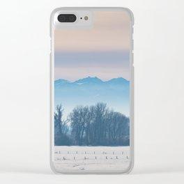 Spanish Peaks Fog Clear iPhone Case