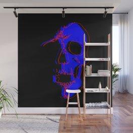Skull - Blue Wall Mural
