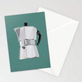 Coffee Moka Pot polygon art Stationery Cards