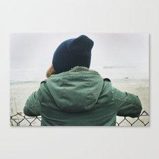 girl on beach. Canvas Print