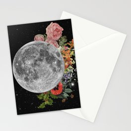 .Stuck Behind the Moon. Stationery Cards