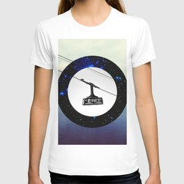 Wormhole - Space cable-car T-shirt