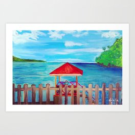 Chilling in the Shade Art Print