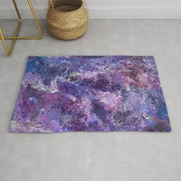Violet drip abstraction Rug