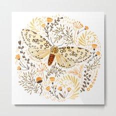 Giant Leopard Moth Metal Print