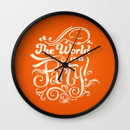The World is a Party Wall Clock