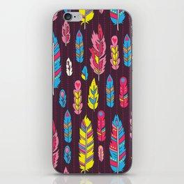 Tribal feathers iPhone Skin