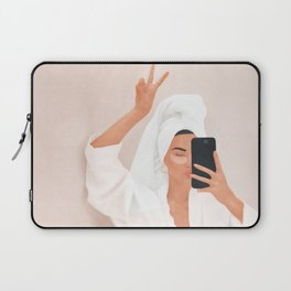Morning Selfie Laptop Sleeve