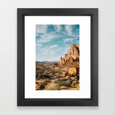 Rock Mountains in the Desert Framed Art Print