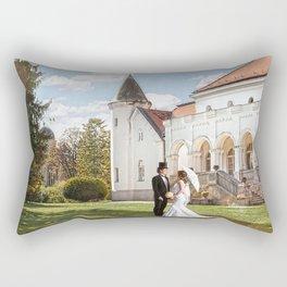 Love in castle Rectangular Pillow