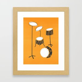 Drum Kit Drummer Framed Art Print