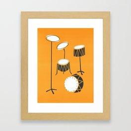 Drum Kit Drummer Framed Art Print