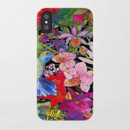 Hummingbirds Black iPhone Case