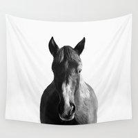 horse Wall Tapestries featuring Horse by Amy Hamilton