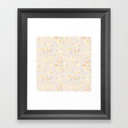 Floral watercolor orange pattern 2 Framed Art Print