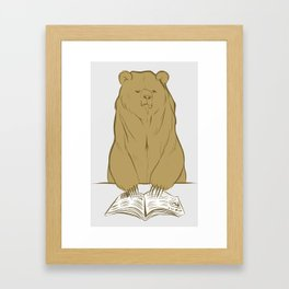 Grumpy Halstead Bear Framed Art Print