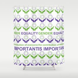 Gender Equality_03 by Victoria Deregus Shower Curtain