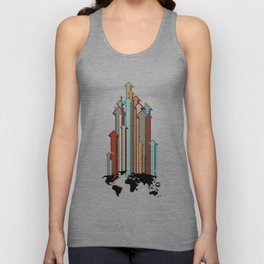 "Glue Network Print Series ""Economic Development"" Unisex Tank Top"