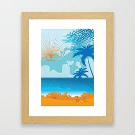 Tropical Beach Framed Art Print