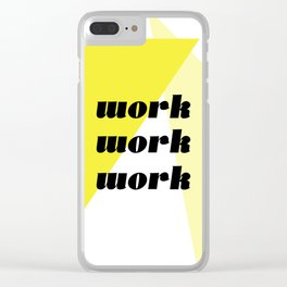 work Clear iPhone Case