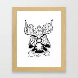 Moose & Arrow Framed Art Print