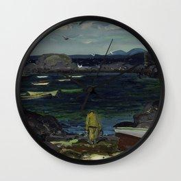The Harbor Monhegan Coast Maine 1913 Wall Clock