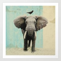 african Art Prints featuring friends for life  by Vin Zzep