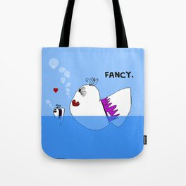 Fancy Ladies Swimming Fish - Art by Child Tote Bag