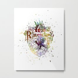 Ravenclaw House silhouette splatter Metal Print