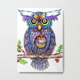 Peace Owl by DeeDee Draz Metal Print