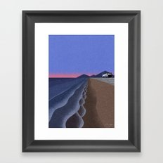 Coast in the evening Framed Art Print