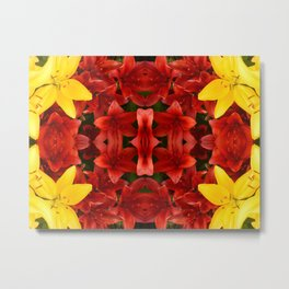 """A Gathering of Lilies"" Remix - 1 (2-1) [D4465~12] Metal Print"