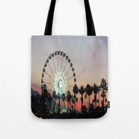 coachella Tote Bags featuring Coachella by Lauren Haney