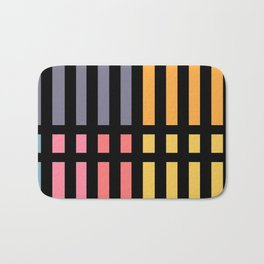 Abstract Lines and Pantone Bath Mat