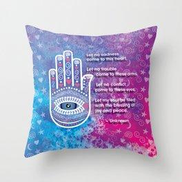Hamsa Prayer Throw Pillow