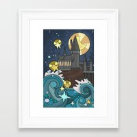 hogwarts Framed Art Prints featuring Hogwarts by Lacey Simpson