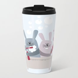 Conejitos / Bunnies Metal Travel Mug